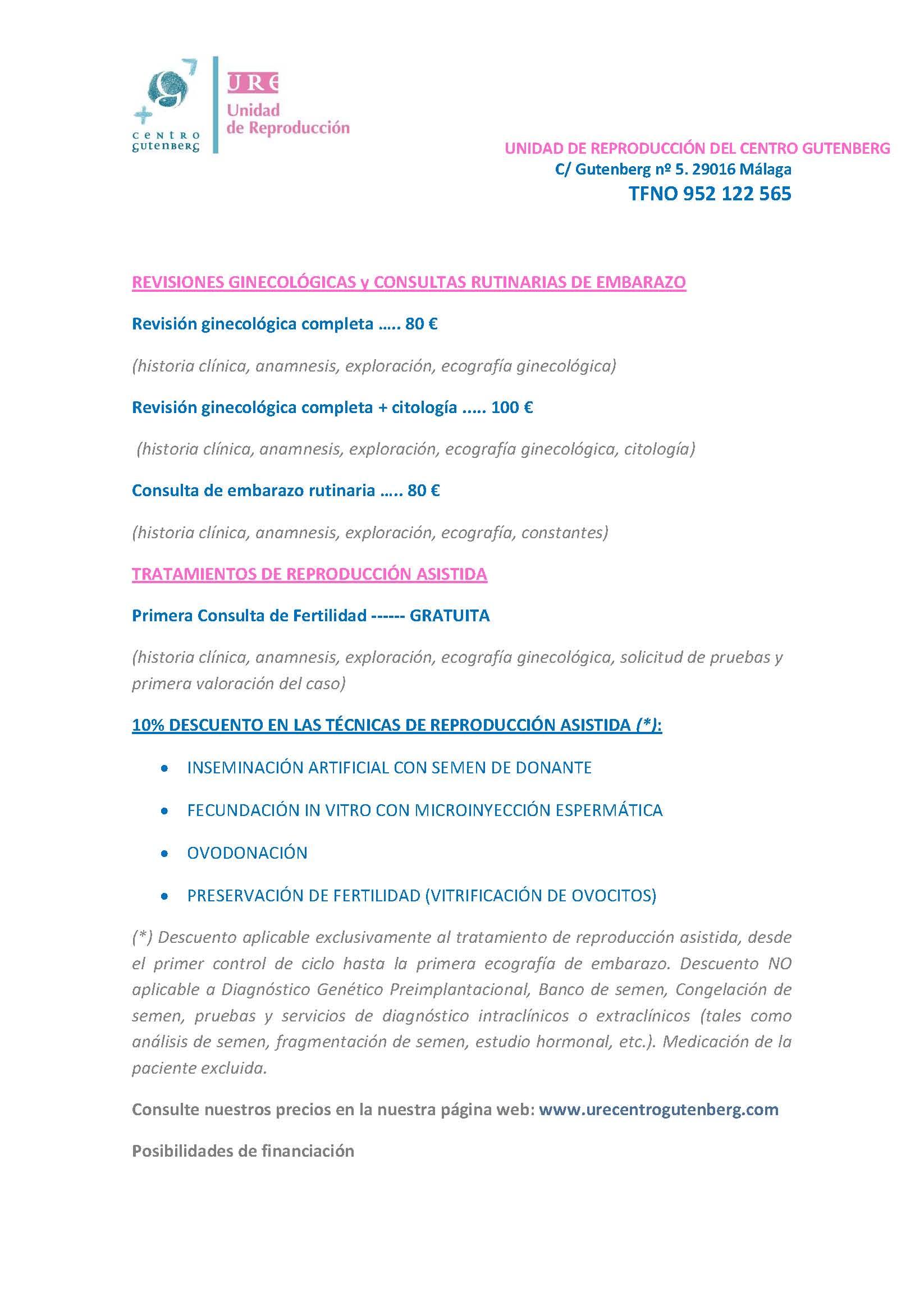 Precio especial para Madres Solteras en UreGutenberg, Málaga