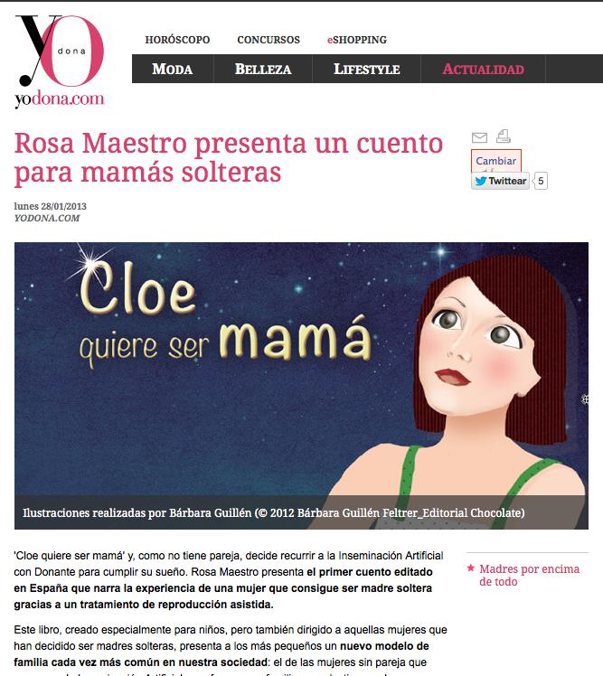 Reproducción asistida + Cloe quiere ser mamá