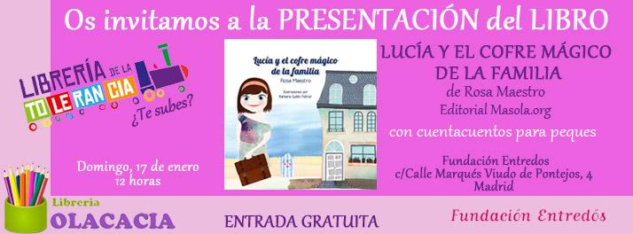 Invitación presentación Lucia cofre