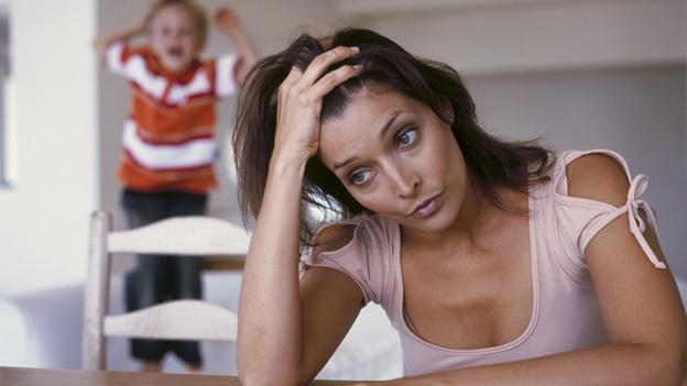 Mamás solteras estresadas