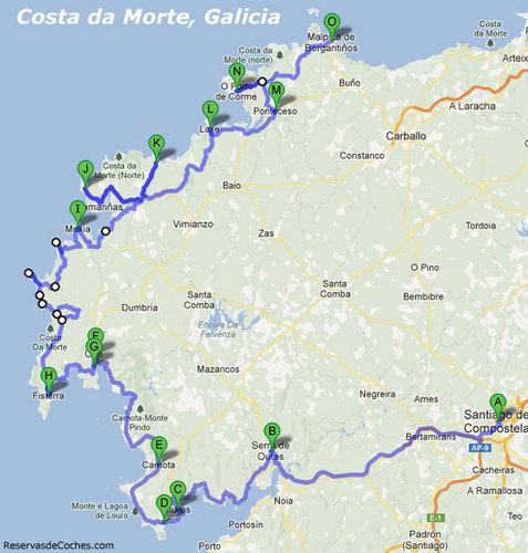 Ruta de la Costa da Morte. Galicia.