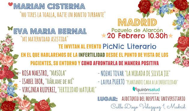 Encuentro Literario sobre reproducción asistida en Quiron Madrid