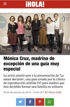 Mónica Cruz amadrina la Guía para Madres Solteras por Elección