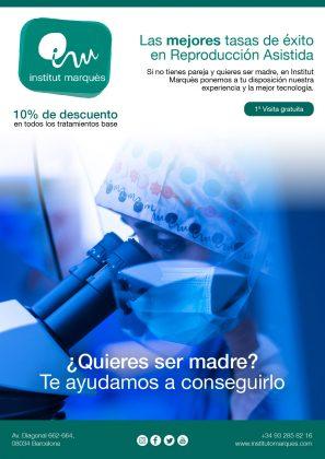 Institut Marqués; descuento del 10% en reproducción asistida