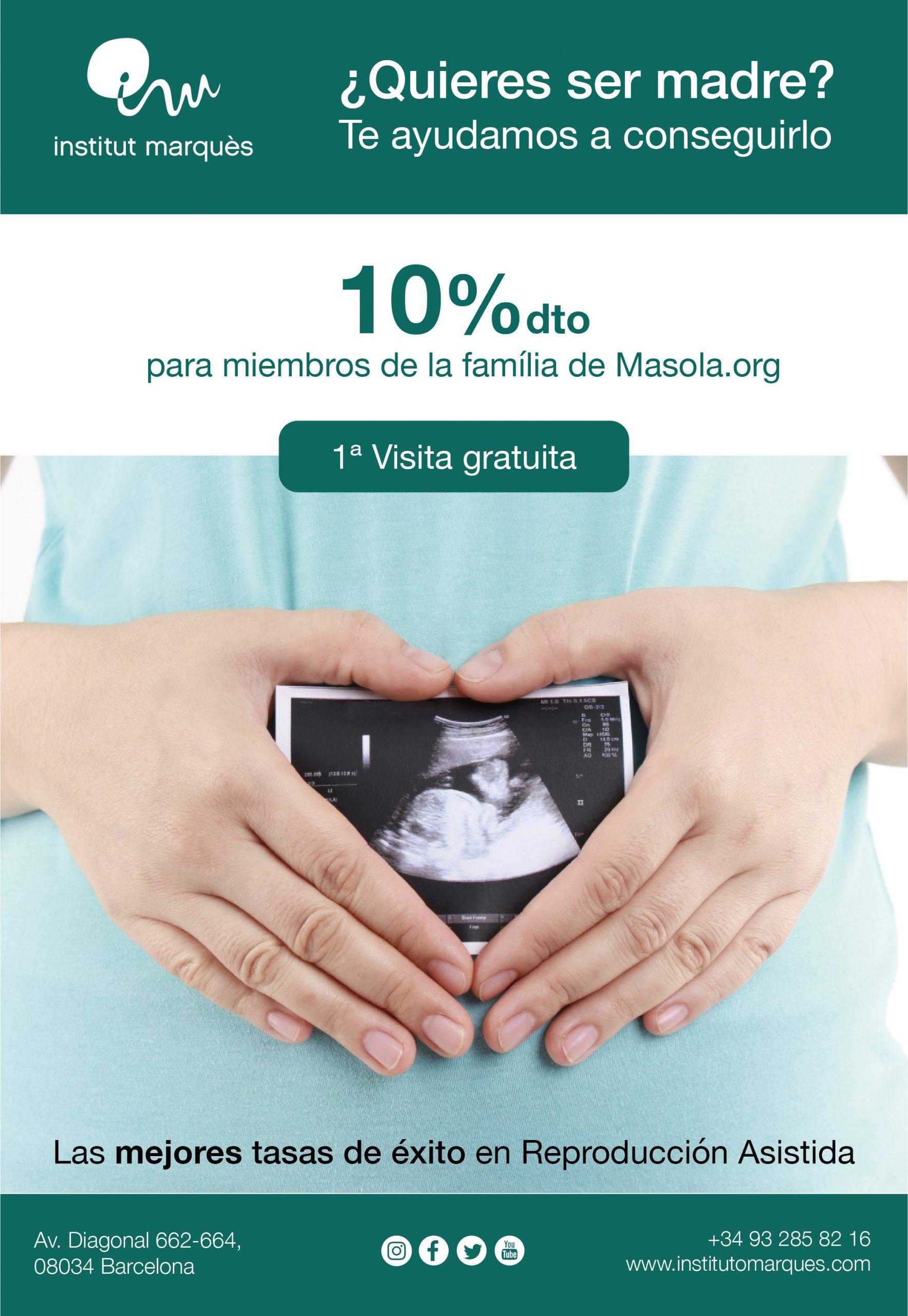 Descuentos reproducción asistida Institut Marqués